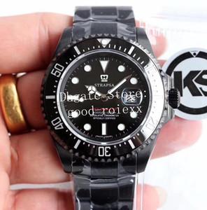 3 de color de 43 mm KS fábrica para hombre automático ETA 2824 hombres del reloj PVD Bisel De Cerámica 126600 Sea Dweller de buceo Deporte Relojes de pulsera suizos