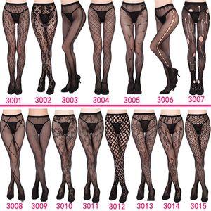 Calze a rete delle donne 2019 NUOVO 30 stili sexy delle donne lungo Fishnet sexy calze collant a rete lingerie calze della pelle alta della coscia calza ZSFS003