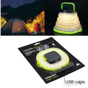 المحمولة التخييم الخفيفة تعمل بالطاقة الشمسية مصباح معلق فانوس LED البسيطة للحصول على خيمة مصباح للطاقة الشمسية USB مدخلات طي مصابيح الطاقة الشمسية للماء
