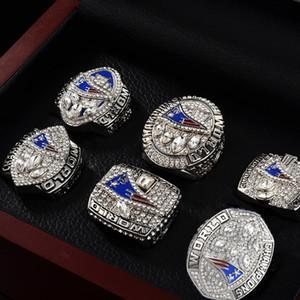 Aksesuarlar Yeni EnglandD Super Bowl Patriot Şampiyonu Halkalar Paslanmaz Çelik Rhinestone 6 Champion Halkalar Suits Fanlar eşyalar Halkalar