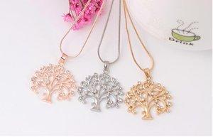 الماس الحياة قلادة شجرة بسيطة حلوة سلسلة الترقوة