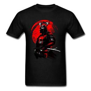 Samurai Warrior Tops Style Froid Noir Rouge T-shirt Hommes Héros T-shirts Japon Anime Tees Vêtements En Coton Swordsman T-shirt Y19042603
