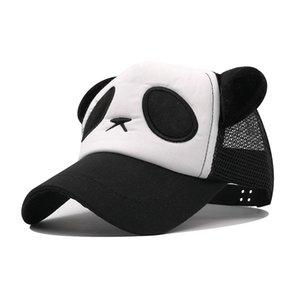 Bambini Mesh Cap Cappello Panda Cappello per il sole all'aperto Ombra Berretto da baseball Boy Girl Size 45-55 CM Snapback