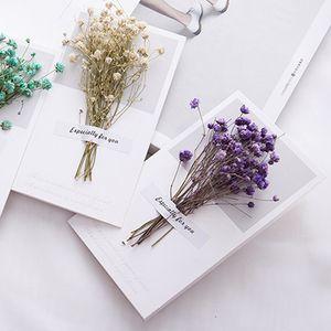 10pcs Gypsophila dried flowers handwritten blessing greeting card birthday gift card wedding invitations