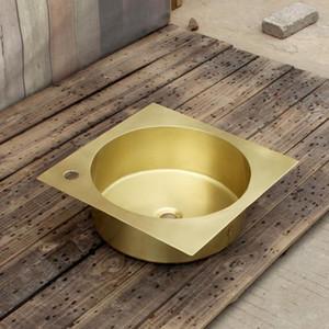 washing sink square brass bathroom basin washbasin small household washbasin sink copper product