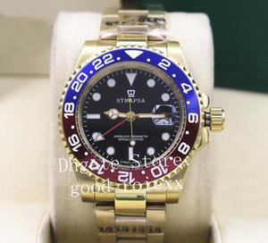 Top Mens Luxo Azul Bezel Assista Automático 2813 Ouro Gmt II Relógios Homens Esporte 126710 Mestre 126711 Batman Perpétuo 116719 relógios de Pulso