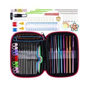 100pcs / set DIY En Aluminium Crochet Crochets Chandail Knit Weave Craft Aiguilles À Coudre Set Kit DIY Aiguilles À Coudre Set Weave Craft