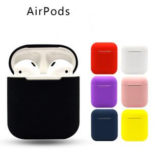 Cyberstore Silikon Koruyucu Kılıf Apple AirPods Gerçek Kablosuz Kulaklık Koruyucu Darbeye Kılıfı ile Anti-toz Tak OPP Çanta Paketi