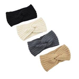 kaki mazarine élastique à tricoter bande de cheveux à la main de laine fil bandeau accessoires pour chaud automne et d'hiver Cheveux Bandes