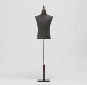 Moda Erkek Manken Vücut Yarım Uzunluk Model Takım Elbise, Pantolon, Braketi, Ekran Giyim Mağazası Ahşap Dase Ayarlanabilir Yükseklik D146