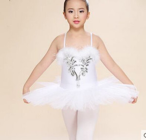 White Swan Lake Pancake Classical Professional Ballet Tutu Dancewear Girls Dance Costume Performance Ballet Dress For Children