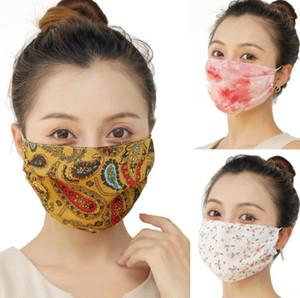 환기 실크 쉬폰 입이 편안 방진 마스크 얼굴 가리개 베일을 타고 야외 스포츠 빨 여름 선 스크린 마스크 여성 마스크