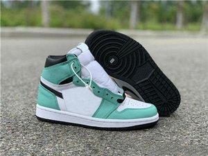 2019 New Release Marca incompatibilidade 1 High OG WMNS Mint rosa claro Verde Sapatos femininos para dia Sapatilhas Sports