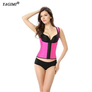 YAGIMI Women Long Torso Corset Top Waist Trainer Latex Body Shaper Slimming Shapewear Tummy Control Belt BuLifter Plus Size