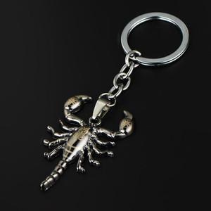 12PCS / 부지 칙 동물 전갈 키 체인 스테인레스 스틸 열쇠 고리 펑크 금속 곤충 남성 키 체인 링 홀더 고딕 보석 선물