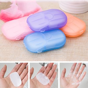 20pcs Box Portable Outdoor Travel Soap Paper Washing Hand Bath Clean Scented Slice Sheets Mini Disposable Soap Paper