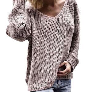 JODIMITTY 2020 V шеи Твердые Женщины Свитера Пуловеры Сыпучие Вязаная Осень Зима Одежда Повседневный Пуловеры Плюс Размер Прицепные