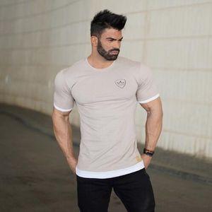 2019 Summer Sport Men Running T Shirt Men GYM Crossfit Tops Sportwear Fitness shirt Male Quick Dry Shirt Bodybuilding T-Shirt