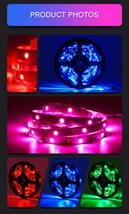 12v Led strips Lights RGB 16.4Ft 5M SMD 5050 Flexible les strips lights 50LED meter 16Different Static Colors