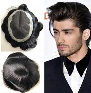 Парик шнурка для чернокожих мужчин парик мужские кружевные чулки швейцарские кружева Австралия парик замена Волос Мужчины парик человеческих волос девственные индийские волосы