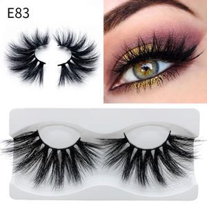 100 Real Mink Eyelashes 25MM 3D Makeup False Soft Natural Long Thick Dramatic Fake Eyelashes Extension Beauty Tools 15 styles Packaging