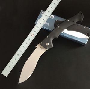 COLD STEEL RAJAH II Huge taktische faltendes Messer D2 Blatt G10 Griff Military Utility-EDC Dogleg Messer im Freien Überlebens-Rettungstaschenmesser