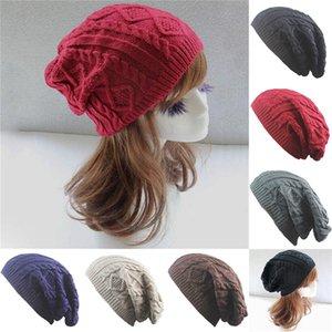 Hot Cakes gibi Moda Caps Kadınlar Stripes Çift katlı Skullies Erkek Beanies 6 Renkler için Sonbahar Kış Örgü Şapka Isınma Sat