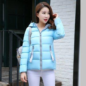 KAR PINNACLE 2018 Bayan Parkas Ceket Kış Rahat Sıcak Kalınlaşmak Kapşonlu Ceketler Katı fermuar Pamuk yastıklı giyim ceket