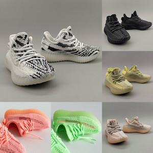 V2 Дети кроссовки Kanye Статическая Зебра младенца кремовый Beluga детей Спортивная обувь малышей Кроссовки Мальчик девочек Разводят тапки