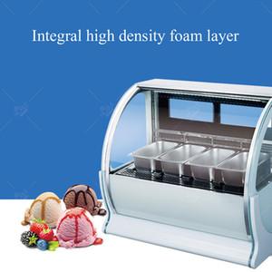 Изогнутое стекло дисплея мороженного шкафа запотевания функция ледяная каша мороженое витрина