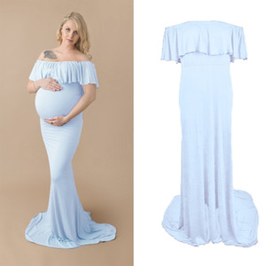 New Style Pregnant Women Chiffon Maxi Dress Maternity Gown Photography Props Long Dress