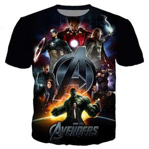 2019 Nuevo Marvel Avengers Endgame 4 3D Impreso Iron Man Captain America Camisetas Unisex Compression Fitness Quick Dry Superhero Tees Q713