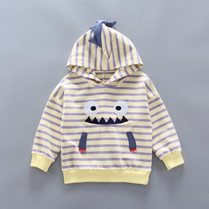 New Baby Boy Girls Cotton Clothes Spring Autumn Children Striped Cartoon Hooded 2Pcs sets Infant Kids Fashion Toddler Tracksuits