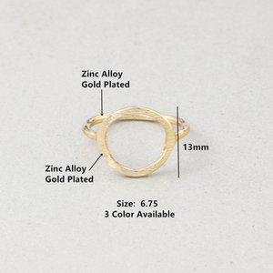미니멀리즘 쥬얼리 골드 실버 컬러 패션 열기 원형 반지 고품질 현대 영원 링에 대한 여성 참여 선물