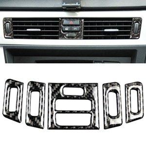 Интерьер волокна углерода стикера центрального кондиционер выход Украшение рама Обложка для BMW E90 E92 E93 2005-2012 3 Series