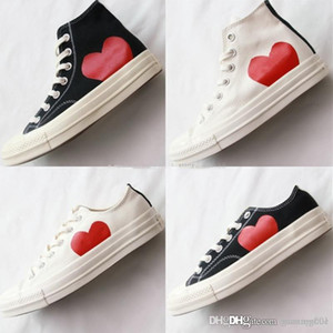 Classic Play All Star shoe Chuck 70 Hi Canvas Jointly Big Eyes Heart Beige Black 1970s designer casual Skateboard Sneakers 35-44