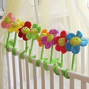Simulation cloth stuffed animal plus sun flower curved curtain buckle bouquet plush bouquet toy wedding stage decoration