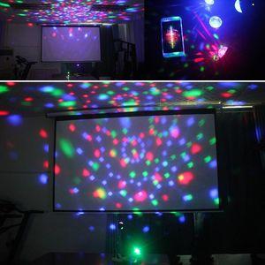 BRELONG lampe DJ, 9 couleur LED de scène balle magique de cristal rotatif RVB lumière USB discothèque 1 pc