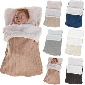 Baby Sleeping Bags bebê footmuff Liner Pushchair Stroller Buggy Pram Toes acolhedores Car Seat malha fuzzy inverno quente Pijamas