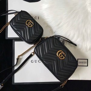 2019 Handtaschen Portemonnaie 2019 Mode-Taschen-Hand Umhängetasche Sac à main Taillentaschen Größe 18 * 12 * 24 * 6cm 13-7cm