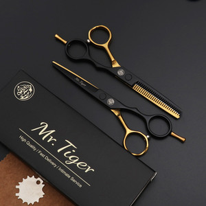 5,5 pulgadas Profesional Japón del corte del peluquero de acero tijeras de peluquería adelgazamiento del pelo Tijeras Tijeras Tijeras Conjunto de pelo tijera corte de pelo