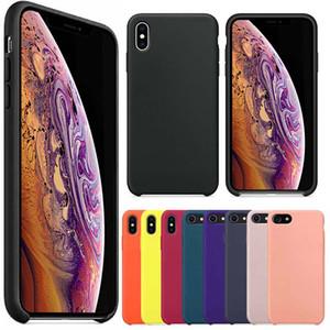 프리미엄 실리콘 케이스 새로운 아이폰 2019 아이폰 XS 최대 XR XS 8 플러스 전화 실리콘 커버 케이스 애플 패키지