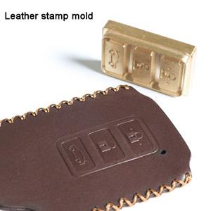 El envío libre modificó en Piel sello de cobre Retención de papel de madera de la piel de la torta de pan molde de calentamiento del molde de estampado de letras en relieve de metal