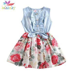 Le nuove ragazze di fiore 20199 di estate del vestito dalla neonata di Belababy veste il vestito da principessa di marca dei bambini per i vestiti 2-9y del bambino della ragazza Dropshipping