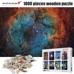 MOMEMO 나무 퍼즐 화려한 별이 빛나는 하늘 퍼즐 어린이 Y200421에 대한 성인 조립 지그 소 퍼즐 장난감 1000 개 조각