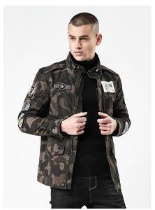 Камуфляж Mens конструктора Куртка Мода тонкого знак патч Дизайн Zipper Fly Жан куртка Street Mens куртка