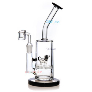 Бонг мазок Рог Bongs животных водопровода пьянящее стеклянные трубы нефтяных вышек кварцевых сосиска воск Курительные принадлежности Кальяны чаши