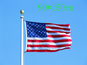 US flag Flag of the United States150CM*90CM 3X5FT Polyester Custom Any Banner American Flag Stars and Stripes flying home & outdoor