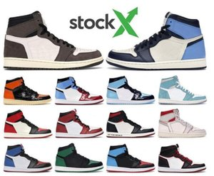 New 1 high OG basketball shoes 1s Royal black Toe pine black court purple white UNC Patent men women designer sneakers trainers 52sa52adf2#