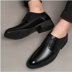 Mazefeng Fashion 2019 Spring Autumn Men Dress Shoes Business Male Leather Shoes Solid Color Men Work Shoes Slip-on Pointed Toe